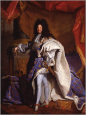 Hyacinthe Rigaud - Ludwig XIV in kniglichem Gewand 