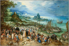 Jan Brueghel d.. - Seehafen mit der Predigt Christi