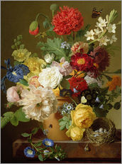Jan Frans van Dael - Blumen-Stillleben auf einem Marmor-Leiste