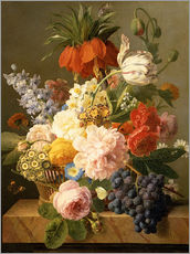 Jan Frans van Dael - Still Life with Flowers and Fruit