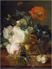 Jan van Huysum - Basket of flowers. (1710/20)