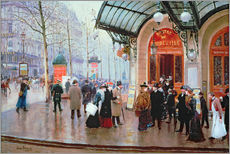Jean Beraud - Outside the Vaudeville Theatre, Paris