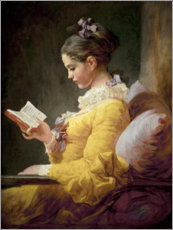 Jean-Honor Fragonard - Junges Mdchen beim Lesen 