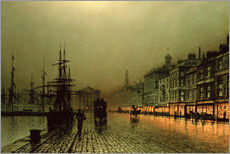 John Atkinson Grimshaw - Greenock Dock by Moonlight