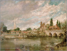 John Constable - The Bridge of Harnham and Salisbury Cathedral