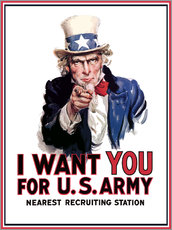 John Parrot - Uncle Sam vintage war poster.