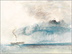 Joseph Mallord William Turner - Dampfschiff in einem Sturm