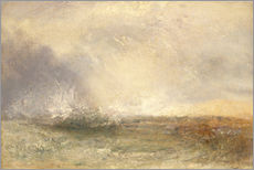 Joseph Mallord William Turner - Stormy Sea Breaking on a Shore