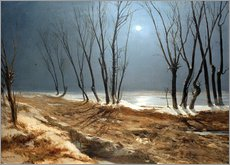 Carl Blechen - Landschaft im Winter bei Mondschein