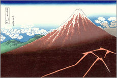 Katsushika Hokusai - Der Fuji ber einem Blitzeinschlag 