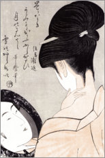 Kitagawa Utamaro - Junge Frau beim Schminken 