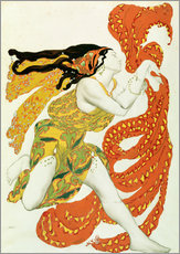 Leon Nikolajewitsch Bakst - Costume design for a bacchante in 'Narcisse' by Tcherepnin
