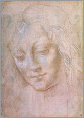 Leonardo da Vinci - Kopf einer Frau