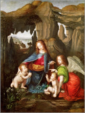 Leonardo da Vinci - Madonna auf den Felsen