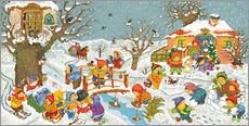 Marion Krtschmer - Wimmelbild, Garten im Winter