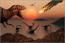 Mark Stevenson - A mighty T. Rex roars from overhead as a giant fireball falls from the sky