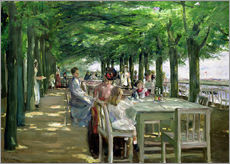 Max Liebermann - Die Terrasse vom Restaurant Jacob in Nienstedten an der Elbe