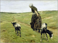 Max Liebermann - Frau mit Geien in den Dnen. 1890