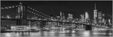 Melanie Viola - Night Skyline NEW YORK CITY b&amp;w