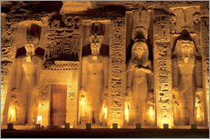 Miva Stock - Egypt, Abu Simbel, The temple of Hathor and Nefertari, also known as the Smaller Temple, during the