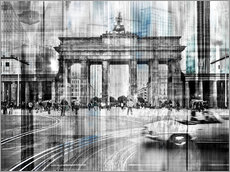 Nettesart - Berlin Stadtansicht Collage skyline Brandenburger Tor