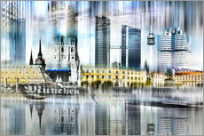  Nettesart - Mnchen Skyline Abstrakte Collage