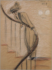 Paul Cesar Helleu - The Staircase