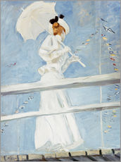 Paul Cesar Helleu - Young Woman with a Parasol on a Jetty