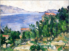 Paul C�zanne - View of Mount Marseilleveyre and the Isle of Maire