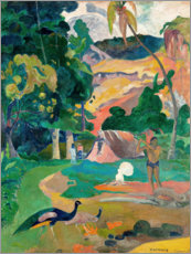 Paul Gauguin - Landschaft mit Pfauen