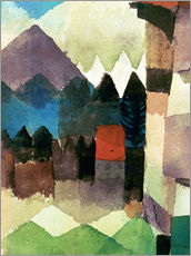Paul Klee - 'F�hn' Wind in Marc's Garden