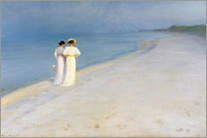 Peder Severin Kroyer - Sommerabend am Skagener Sdstrand mit Anna Ancher und Marie Kroyer