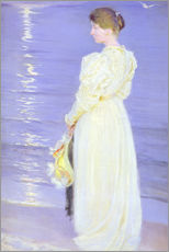 Peder Severin Kroyer - Frau in Wei� am Strand