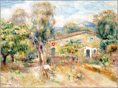 Pierre-Auguste Renoir - Collettes Farmhouse, Cagnes, 1910