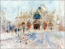 Pierre-Auguste Renoir - Markusplatz in Venedig