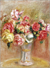 Pierre-Auguste Renoir - Rosen in einer Svresvase