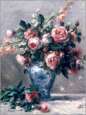 Pierre-Auguste Renoir - Vase mit Rosen