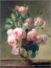 Pierre Joseph Redoute - Vase mit Blumen 