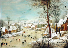 Pieter Brueghel d.. - Winterlandschaft mit Vogelfalle