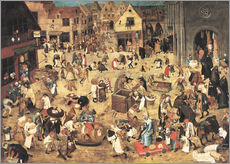 Pieter Brueghel d.J. - The Battle between Carnival and Lent