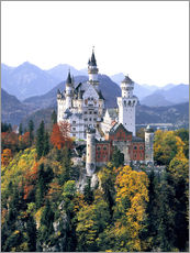 Ric Ergenbright - Schloss Neuschwanstein umgeben von bunten Herbstbumen