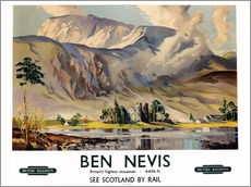 Scottish School - Ben Nevis, poster advertising British Railways, c.1955