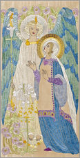  Scottish School - The Annunciation, Glasgow school embroidery, c.1910