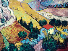 Vincent van Gogh - Landschaft mit Haus und Pflger 