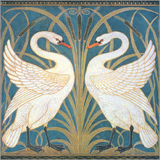 "Walter Crane - Wallpaper Design for panel of ""Swan"