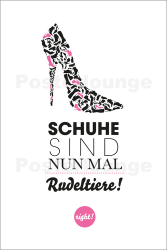 poster leinwandbild schuhe sind rudeltiere formart zeit f r sch nes ebay. Black Bedroom Furniture Sets. Home Design Ideas