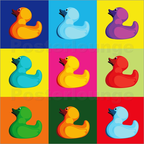 pop art duck posters by coico. Black Bedroom Furniture Sets. Home Design Ideas