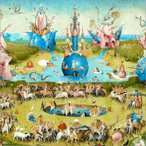 Garden Of Earthly Delights Detail Posters By Hieronymus Bosch