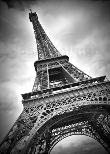 eiffelturm paris iii poster von melanie viola. Black Bedroom Furniture Sets. Home Design Ideas