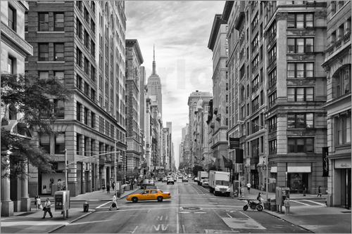 ny yellow cabs i poster von melanie viola. Black Bedroom Furniture Sets. Home Design Ideas